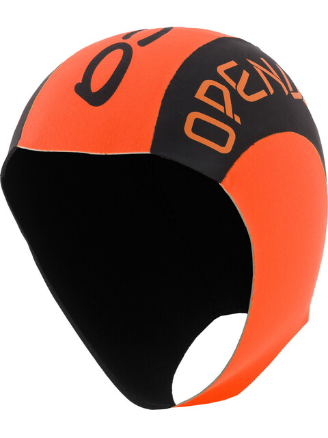 ORCA Neopren Swimcap - Bonnet de bain - orange/noir